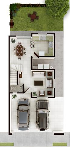 Casas en venta en cumbres san patricio for Modelos casas planta baja